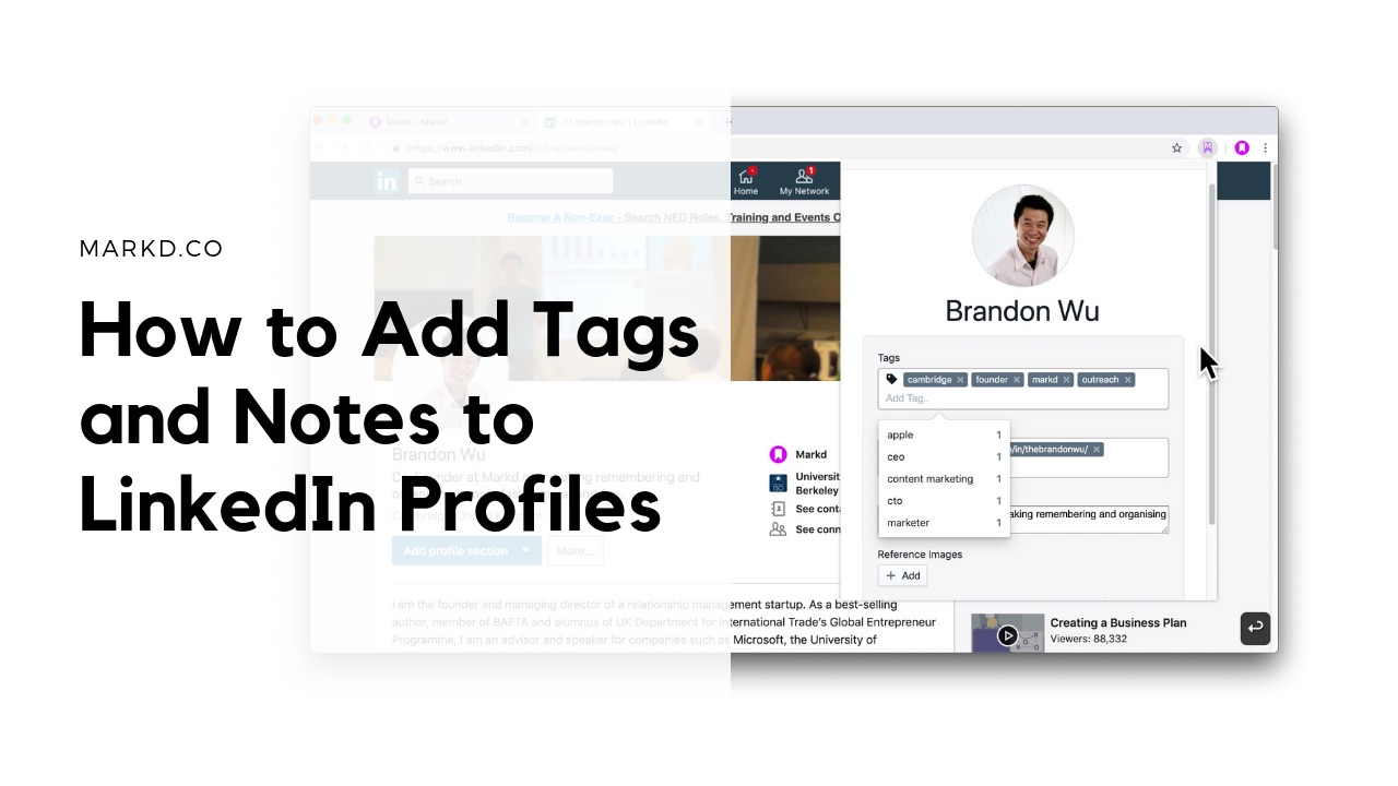 how to add tags and notes to linkedin profiles